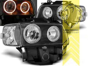 DEPO Angel Eyes Scheinwerfer für VW T4 Bus Multivan Caravelle schwarz