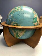 "Cartocraft 16"" World Globe Denoyer-Gepperrt Co."