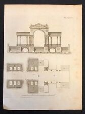 Antigua Revista De Diseño de impresión de 1800 constructores para una gran canal Pavillion XXXIII