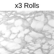 x3 Rolls Fablon Marble Effect Grey Blue Stationary Crafts Self Adhesive Vinyl