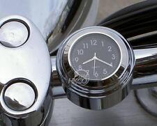 "7/8""1""Handlebar Mount Clock For Honda Yamaha Harley Chopper Cruiser Custom New"