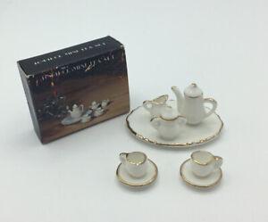 Dolls House White Coffee Set