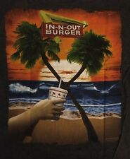 *NEW* IN N OUT BURGER Texas Beach & Palm Tree Graphics Adult Small Gray T-Shirt