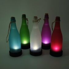 Solar LED Powered Bottle Light Hanging Jar Night Lamp For Garden Yard Lamp 5pcs