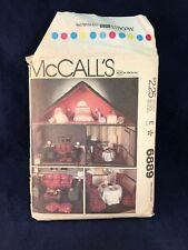 McCalls 6889 Doll Pattern Miniature Doll House Crafts Toy Vintage Living Room