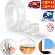 Double Sided Adhesive Grip Tape,Traceless Washable for Paste Photos Office Wall