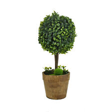 Mini Artificial Potted Topiary Ball Tree, 12-3/4-Inch