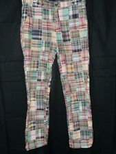 Brooks Brothers Mens Clark Pants 34 X 34 India Madras Patchwork Plaid Golf