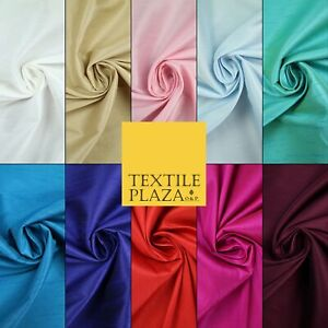 """OVER 10 COLOURS Plain Dyed Faux Dupion Raw Silk 100% Polyester Dress Fabric 56"""""""