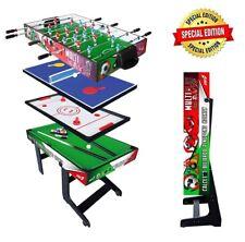 Tavolo Multigioco SALVASPAZIO 4 in 1 Calciobalilla Ping Pong Hockey Biliardo