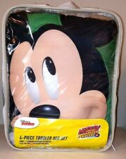Brand New Franco Disney Mickey Mouse 4-Piece Bedding Set for Toddler Bed