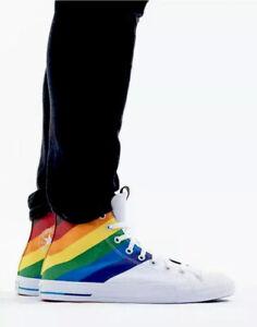 Converse PRIDE Rainbow Race LGBTQ Sneaker Hi Top 167758C Men's 10 Women's 12 NEW