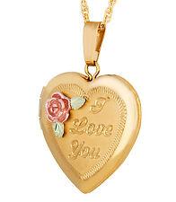Landstrom's® Black Hills Gold-Filled I Love You Heart Locket Pendant