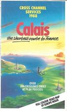 1988 Calais Car Ferry Hovercraft Schedules Cross Channel Services Dover - France