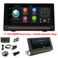 "7"" HD 1080P Dual Lens Car DVR +GPS Navi Bluetooth Dash Video Recorder Android 3G"
