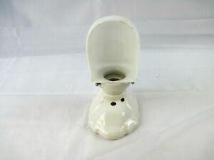 "Vintage 9"" Procelain Milk Glass Bathroom Hallway Home Wall Light Fixture"