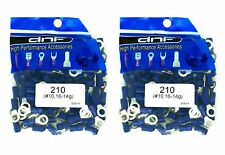 200 PACK 16-14 GAUGE AWG GA BLUE CAR GROUND WIRE RING TERMINALS CONNECTORS #10