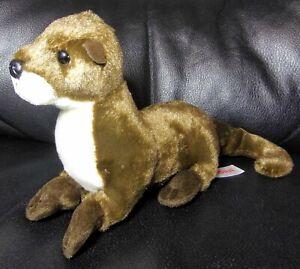 Otter Stuffed wild Animal Plush American River Aurora Brown Stuffed Animal EUC
