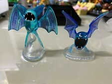 Pokemon TOMY Monster Collection Mini Figure Clear Rare Zubat Golbat