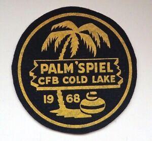 "Vintage Curling Patch - Palm ""Spiel RCAF Cold Lake 1968"