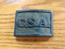 Civil War Confederate Cs Richmond tongue belt buckle plate
