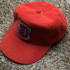Vintage Duquesne University Dukes Adjustable Hat Red Corduroy Embroidered