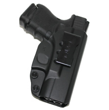 For Glock 26 27 33 (Gen 1,2,3,4) IWB Concealed Carry Gun Holster (Black Polymer)