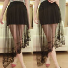 Fashion Women Stretch High Waist Mini Skirt Plain Skater Flared Pleated Dress
