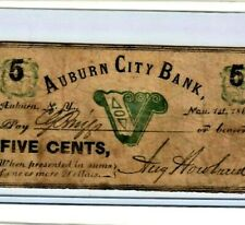 "5 CENT ""AUBURN CITY BANK"" (NEW YORK) 1800'S  5 CENT ""AUBURN CITY BANK"" RARE!!!!!"