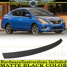 For Nissan Versa 2012-2018 4-Door Sedan MATTE BLACK Lip Factory Style Spoiler