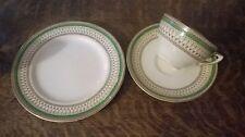 Vintage J & G Meakin trio - side plate, teacup & saucer - Green Westminster