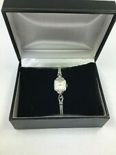 Tradition Swiss Vintage Women's Watch 14K White Gold and Diamond