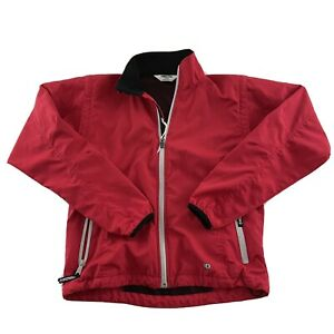 Pearl Izumi Full Zip Lined Cycling Jacket Women's M Red