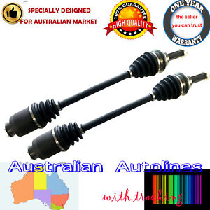 Two New Front CV Joint Drive Shafts for Subaru Forester SF 8/97-6/02 with ABS
