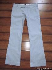 THE GAP ~ Size 6 ~ Blue & White Striped Flared Stretch Cotton Pants