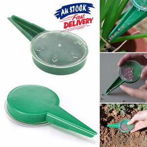 1 x Plastic Garden AU Sower Seed Dispenser Seeder Planter Tool Plant Spreaders