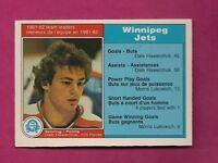 1982-83 OPC # 374 JETS DALE HAWERCHUK SL ROOKIE EX-MT CARD (INV#7038)