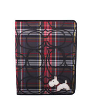 NWT $128 Coach Signature Stripe Scottie Dog iPad Case Cover Apple Red Blue NEW