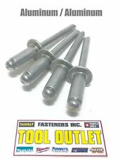 "(Qty 25) 1/8"" Dia. x 1/8"" Grip Range Pop Rivets All Aluminium 4-2 Aba42"
