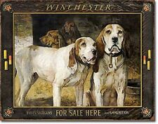 Winchester For Sale Here Dog Ammunition Ammo Firearms Guns Hunt Metal Tin Sign