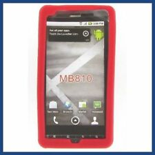Red Soft Rubber Skin Back Case GEL Silicone Cover For Motorola DROID X 2  MB870
