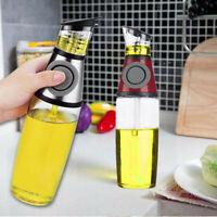 1/2/4X 500ML Glass Dispenser Olive Oil Vinegar Pourer Bottle Kitchen Cooking