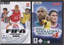 Pro Evolution Soccer 2004 PES 04 + juegos de PC clásico de Fútbol FIFA 04 2004