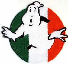 Ireland, Irish Flag Style Embroidered Ghostbusters No Ghost Iron-On Patch