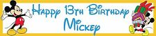 2 personalised Disney Mickey Mouse banners Birthday party christening name age