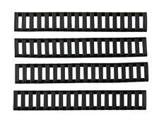 AIRSOFT AEG Ladder rail panel set C -black  RIS RUBBER