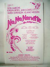 NO NO NANETTE Herald DON AMECHE / EVELYN KEYES / ANN B DAVIS Philadelphia 1973