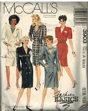 3903 Vintage McCalls Sewing Pattern Misses Fashion Basics Front Button Dress OOP