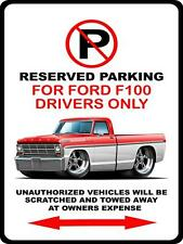 1967 Ford F100 F-100 Pickup Truck Cartoon No Parking Sign NEW