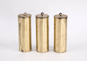 Matching set of 3 Vienna regulator clock weights @ 1890 Original Gustav Becker